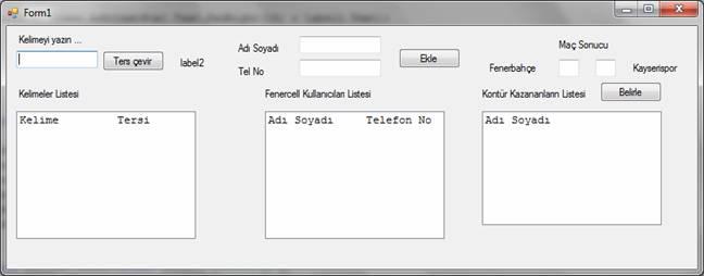 Nesne tabanlı programlama dersi yazılı uygulama 3 c