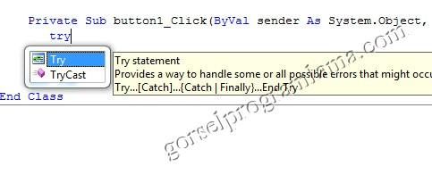 vb net hata yakalama try catch finally ve on error resume
